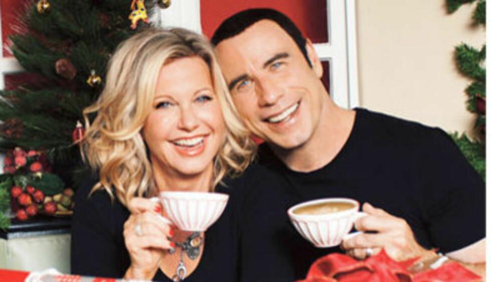 GJENFORENES: Nå har Olivia Newton-John og John Travolta spilt inn julealbum sammen.