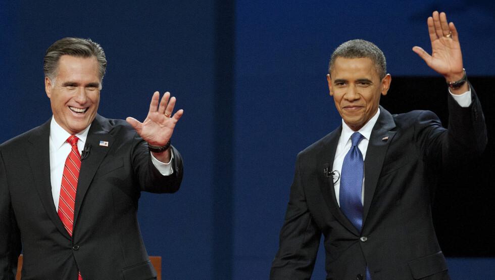 DUELL: Hvem som blir USAs 45.president gjenstår å se. Svaret får vi 6. november. Foto: UPI