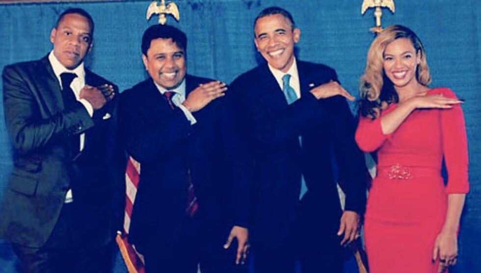 HYGGE: En av Obamas tilhengere har lagt ut bildet på det sosiale nettstedet Instgram.  Foto: Instagram