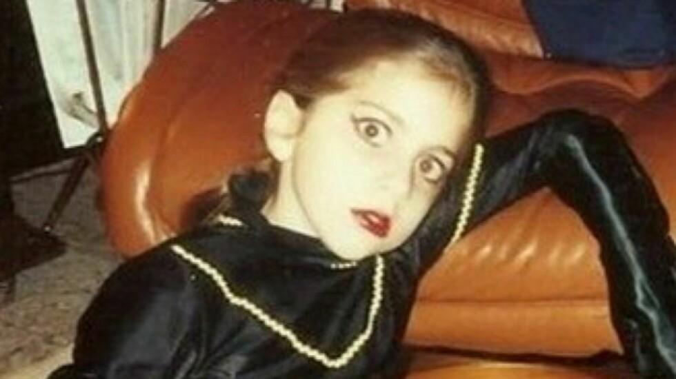 LADY GAGA: Allerede som 9-åring likte popstjernen å skille seg ut fra mengden. Foto: Twitter