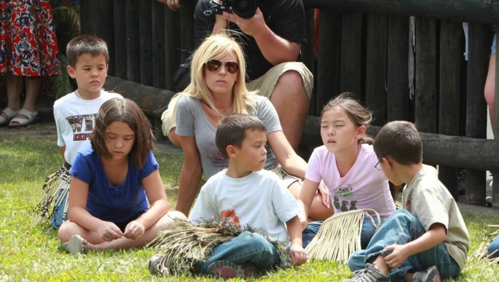 STRAFFET BARNA: Kate Gosselin skal ha slått sine åtte barn hvis de ikke oppførte seg slik hun ønsket.  Foto: All Over Press