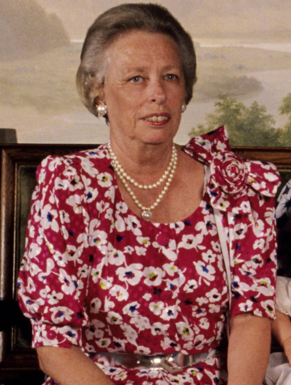 1989: Prinsesse Ragnhild fru Lorentzen i barnedåpen til sitt barnebarn Victoria Ragna Ribeiro.  Foto: NTB scanpix