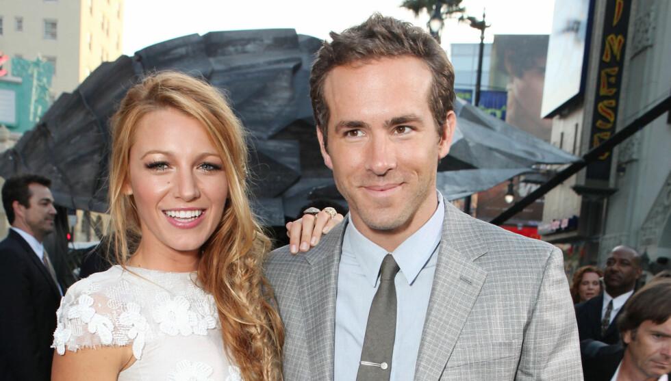 SJOKKBRYLLUP: Ingen visste om bryllupet til Blake Lively og Ryan Reynolds som ble arrangert søndag kveld i South Carolina. Foto: All Over Press