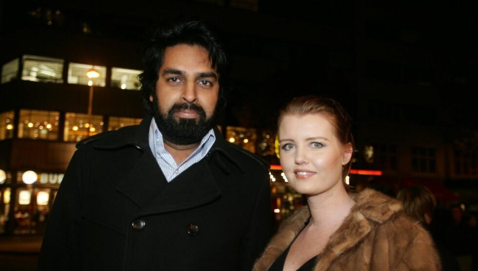 EKSDAMA: Zahid Ali har sønnen Elliot Solberg-Ali (3) med ekskjæresten Therese Solberg. Her fra da de to var på kinopremiere i 2009. Foto: Stella Pictures
