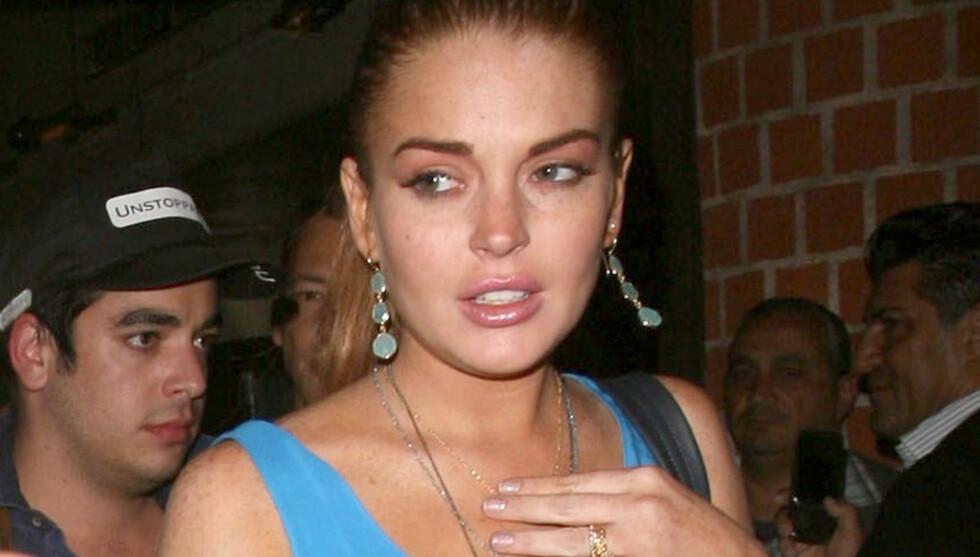 FIKK PANIKK: Lindsay Lohan skal ha reagert med panikk, da hun skjønte at hun måtte gjøre narr av sitt eget liv i filmen «Scary Movie 5». Foto: Fame Flynet