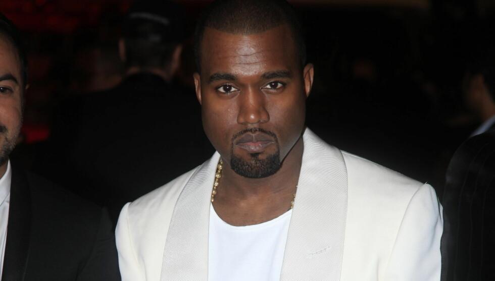 DRAR IKKE ALENE: Kanye ville ikke dra uten kjæresten Kim Kardashian og trakk seg fra MTV Video Music Awards. Foto: Stella Pictures