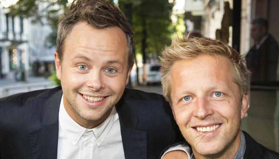 SER FRAM TIL NY SESONG: Alexander Nyhagen og Fridtjof Nilsen lover at det blir mange flotte TV-øyeblikk i årets sesong av «Gøy på landet». Foto: Tor Lindseth