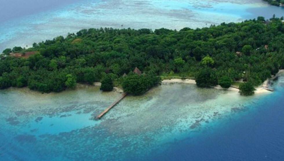 NORSK ØY: Kate og William skal besøke Tavanipu, en øy i Stillehavet som tidligere var bebodd av norske handelsreisende.