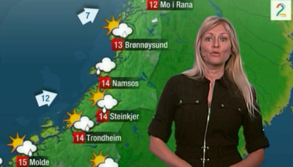 PÅ JOBB: Søndag kveld meldte Eli Kari Gjengedal været i sin private Michael Kors-kjole, som hun brukte på TV2-festen fredag kveld.   Foto: TV2
