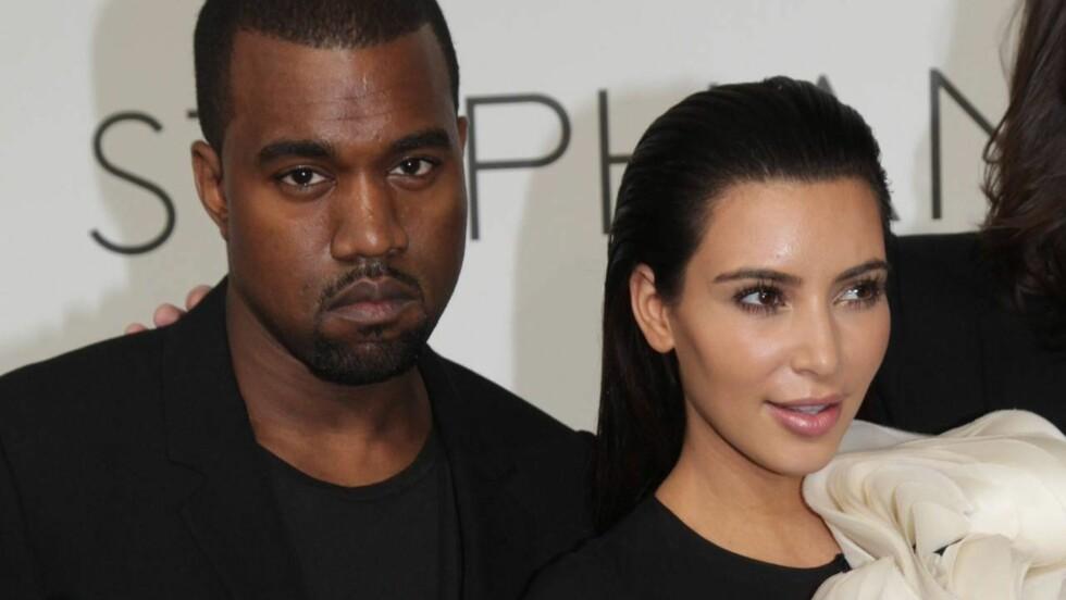 KJÆRLIGHETEN BLOMSTRER: Kanye West skal ha planlagt å fri til kjæresten Kim Kardashian.  Foto: All Over Press