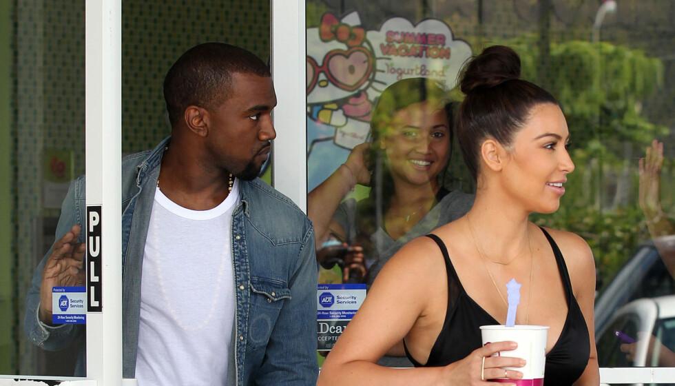 LYKKELIGE: De to stjernene Kanye West og Kim Kardashian har virkelig funnet tonen. Foto: Stella Pictures