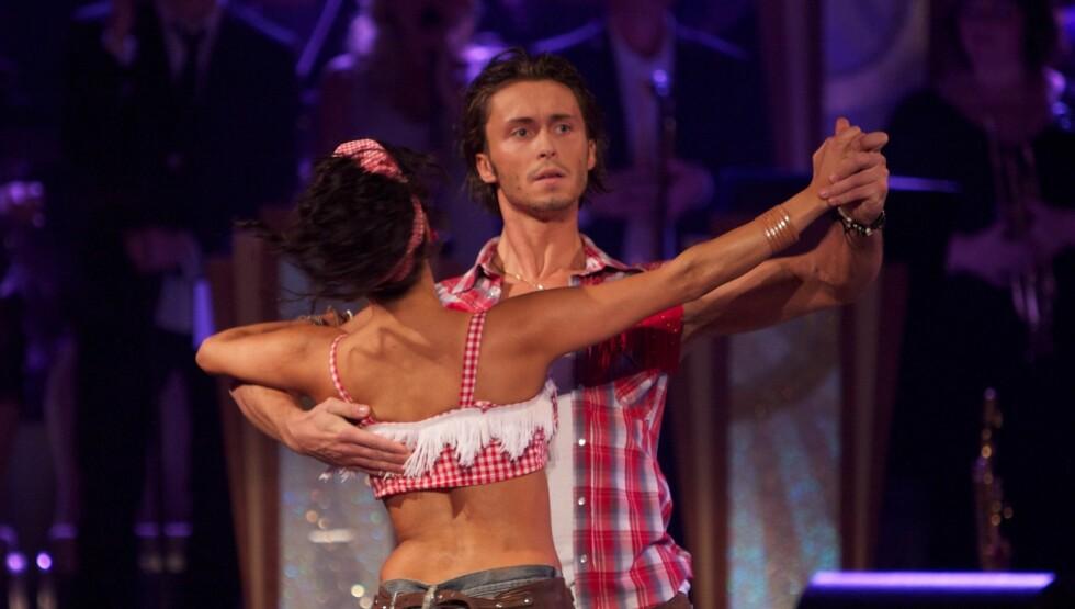 FORLOVET: Tidligere har Egor blant annet danset med Aylar Lie, men privat er det Benedicthe Bjerke som har en spesiell plass i hans hjerte. Foto: Stella Pictures