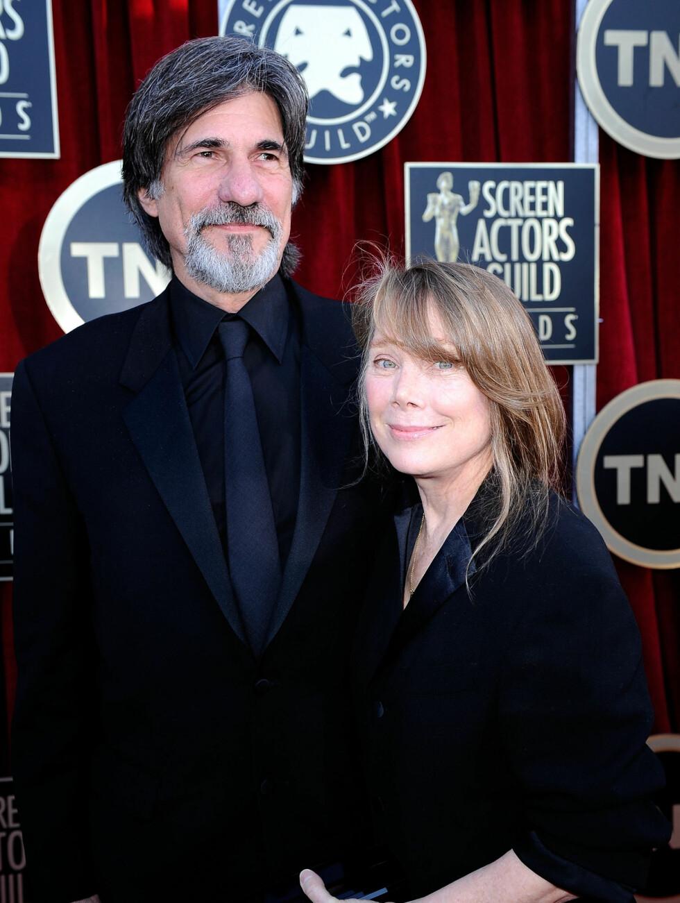 36 ÅR: Sissy Spacek (62) er kjent fra filmer som «Carrie» og «Coal Miners Daughter». Hun møtte Jack Fisk (66) på innspillingen av «Badlands», og paret har to barn sammen.  Foto: All Over Press