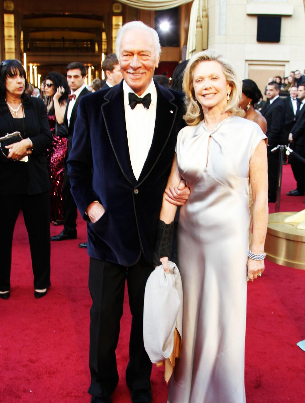 39 ÅR: Christopher Plummer (82) er kjent fra blant annet «Den Rosa Pantern» og er gift med Elaine Taylor (68). De har ingen barn sammen. Men han har dateren Amanda fra et tidligere ekteskap. Foto: All Over Press