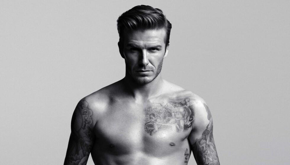 UNDERTØYSMODELL: David Beckham poserer i undertøy han selv har designet i H&Ms kampanjer.  Foto: H&M
