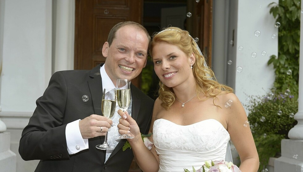SA JA: Lørdag giftet de to TV 2-profilene Ida-Marie Vatn og Knut Olav Aarsnes seg i Sverige.  Foto: Geir Egil Skog/Se og Hør