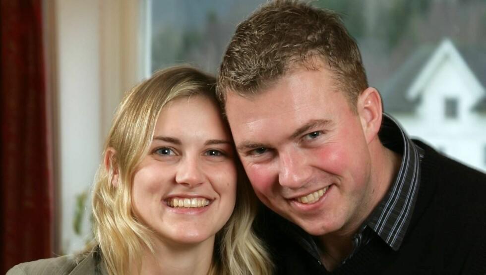 Tore Jardar Johannessen Wirgenes (33) fant kona Michelle gjennom «Jakten på kjærligheten» på TV 2. Nå har de blitt foreldre. Foto: TV 2
