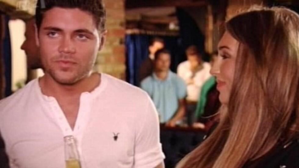 KRANGLET FORAN KAMERA: Tom Pearce og Lauren Goodger fra TV-serien «The Only Way Is Essex» begynte å krangle om sexlivet sitt, da Goodger i forrige uke dumpet Pearce foran kamera. Foto: ITV2