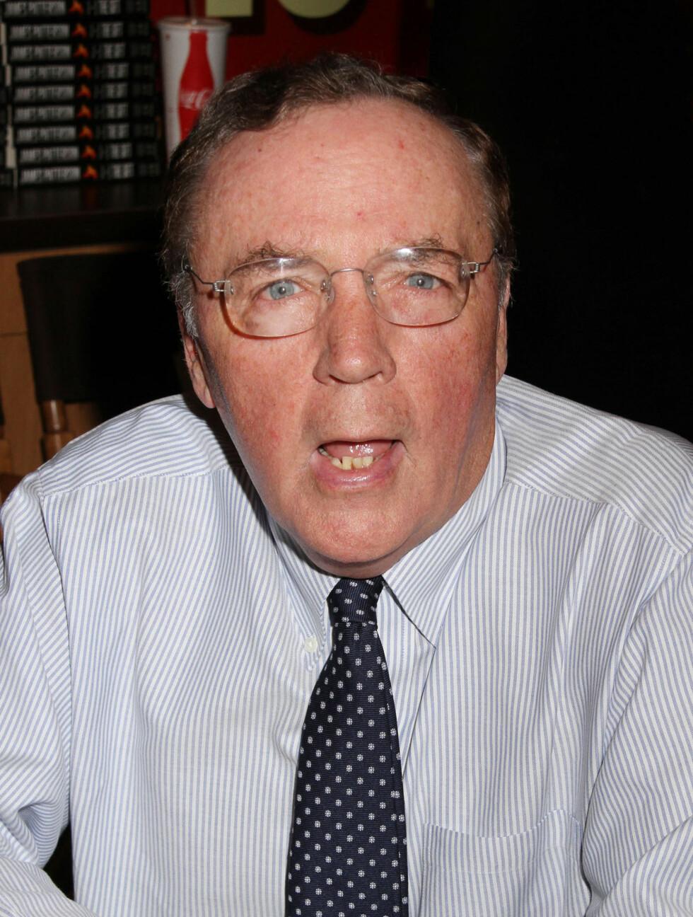 NUMMER #8: Forfatteren James Patterson (65) står bak serien på over 20 bøker om «Alex Cross». Noe som sikret han nesten 575 millioner kroner på ett år. Foto: Fame Flynet