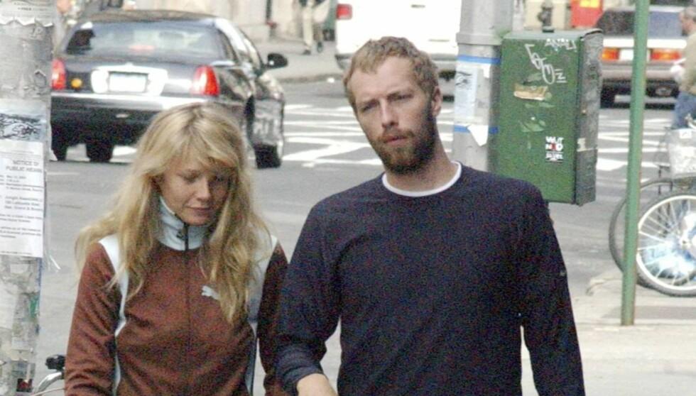 GIFT I NI ÅR: Gwyneth giftet seg med Coldplay-vokalisten Chris Martin i 2003. Paret har fått to barn sammen; Apple og Moses. Foto: All Over Press