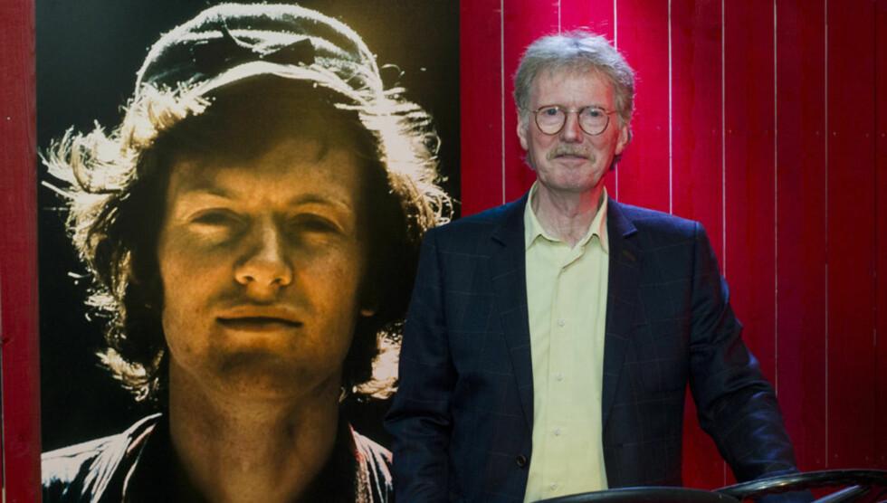 MIMRER: Denne uken åpnet gitarkongen Øystein Sunde utstillingen «Kjekt å ha» på Popsenteret i Oslo. Utstillingen inneholder instrumenter og krimskrams Sunde har samlet i løpet av karrieren. Fotografiet til venstre viser Sunde som 23-åring, da han  Foto: NTB scanpix