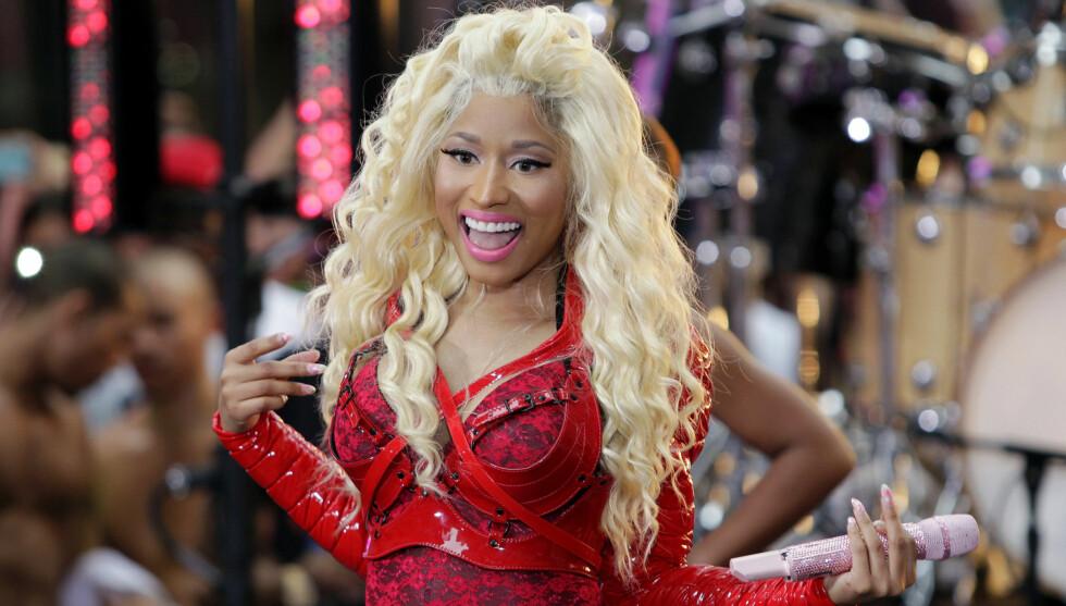 TOPPKANDIDAT TIL DOMMERSTOLEN: Nicki Minaj skal angivelig være toppkandidaten til å få dommerjobb i den neste sesongen av «American Idol». Foto: Fame Flynet