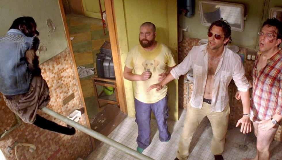 FILMSUKSESS: I de to populære «Hangover»-filmene har Zach Galifianakis vært innom det meste som kan gå galt på et utdrikningslag. Forhåpentligvis gikk hans eget utdrikningslag noe bedre... Foto: Filmweb