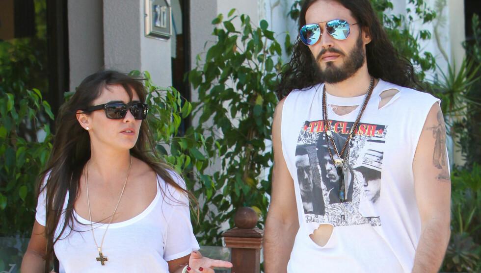 TODELT STEVNEMØTE: Russell og Isabella spiste først lunsj, før de dro på handletur i jakten på sko sammen. Foto: Fame Flynet