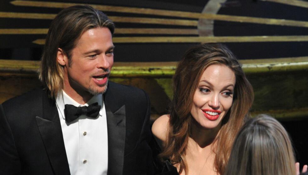 GIFTER SEG I HELGA?: Brad Pitt og Angelina Jolies eiendom gjøres klar til fest.  Foto: All Over Press