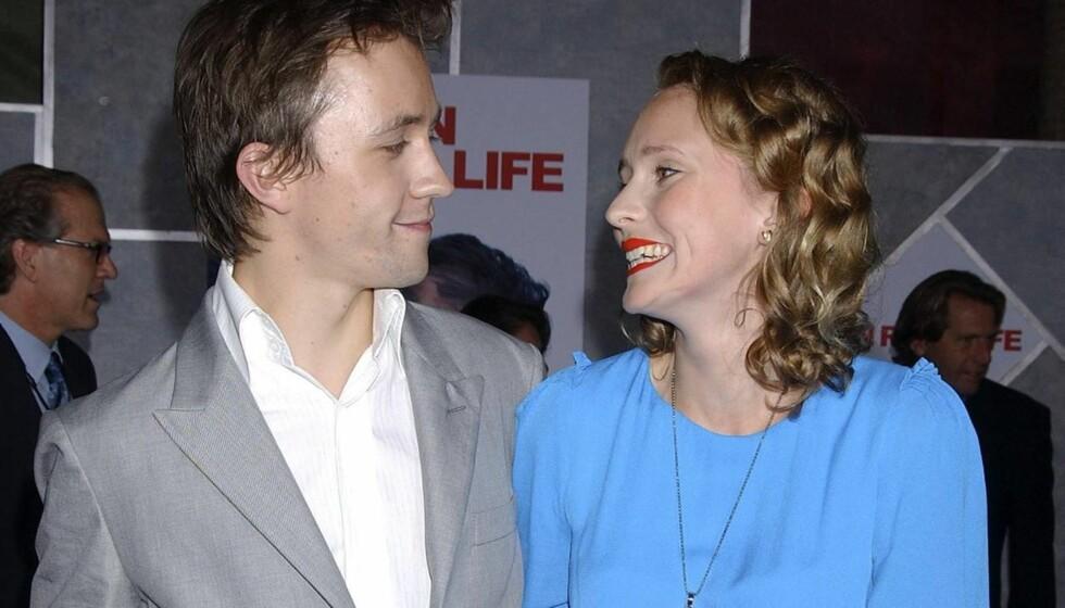GIFT I SYV ÅR: Mona og Sondre giftet seg i all hemmelighet i 2005. Hun har tatovert navnet hans på kroppen.  Foto: All Over Press