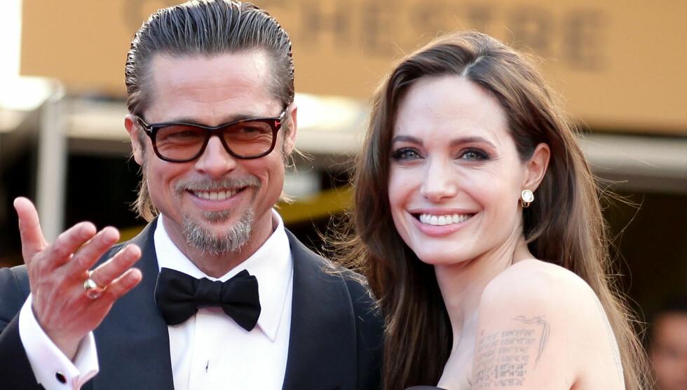 SKULLE GIFTET SEG I AUGUST: Bryllupet til Brad og Angelina er utsatt på ubestemt tid. Opprinnelig skulle de gifte seg denne måneden, på slottet deres Chateu Miraval i Sør-Frankrike. Foto: All Over Press
