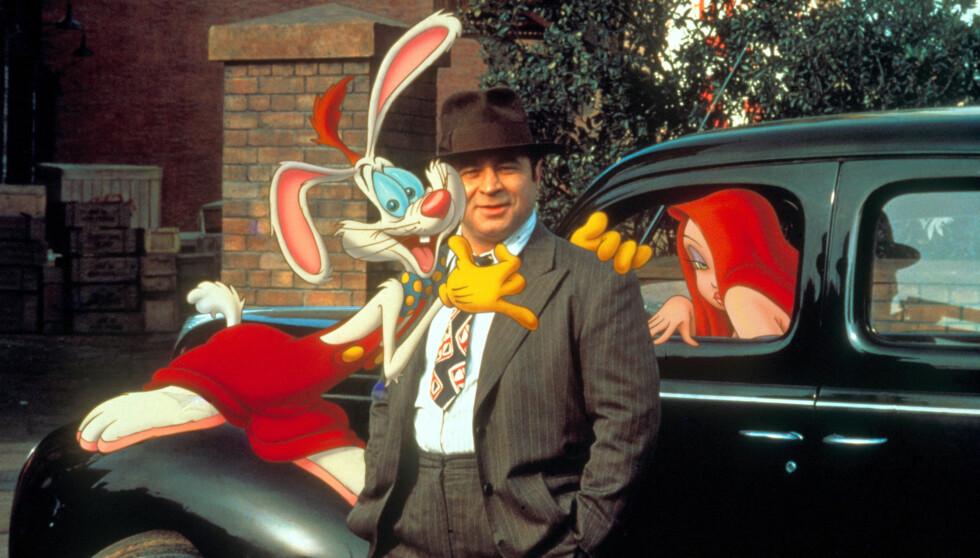FILM-VETERAN: Bob Hoskins har spilt i en rekke kjente filmer, blant annet i «Hvem lurte Roger Rabbit?» fra 1988, som blandet vanlig film og tegnefilm. Foto: Stella Pictures