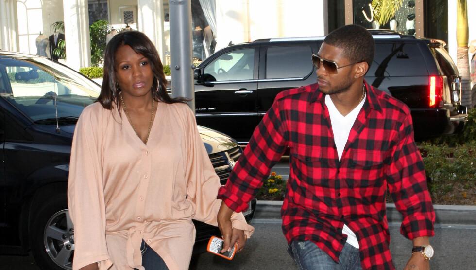 RASER: Ushers ekskone, Tameka Foster, raser mot stjernen, og mener han ikke bryr seg om tragedien i det hele tatt. Foto: All Over Press