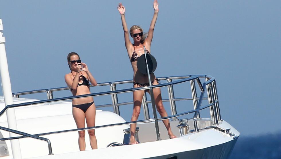 TITANIC-KOPI: Nicky Hilton gjorde som Kate Winslet i 90-tallsfilmen Titanic. Foto: Stella Pictures