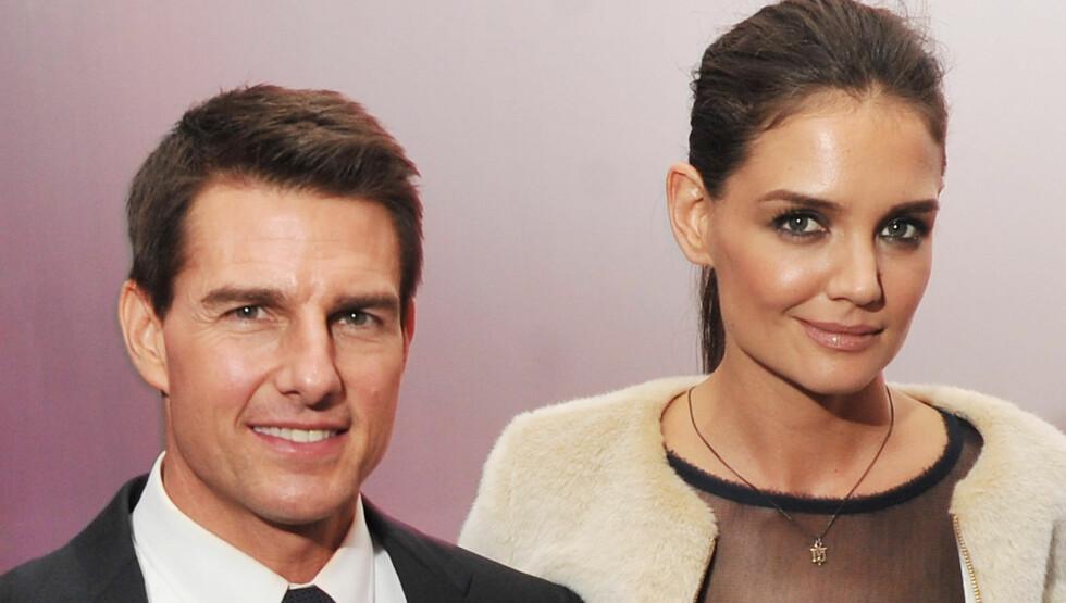 SKILLES FOR TREDJE GANG: Tom Cruise og Katie Holmes har gått hvert til sitt. Scientologikirken skal være en av årsakene til at forholdet ikke fungerte.  Foto: All Over Press