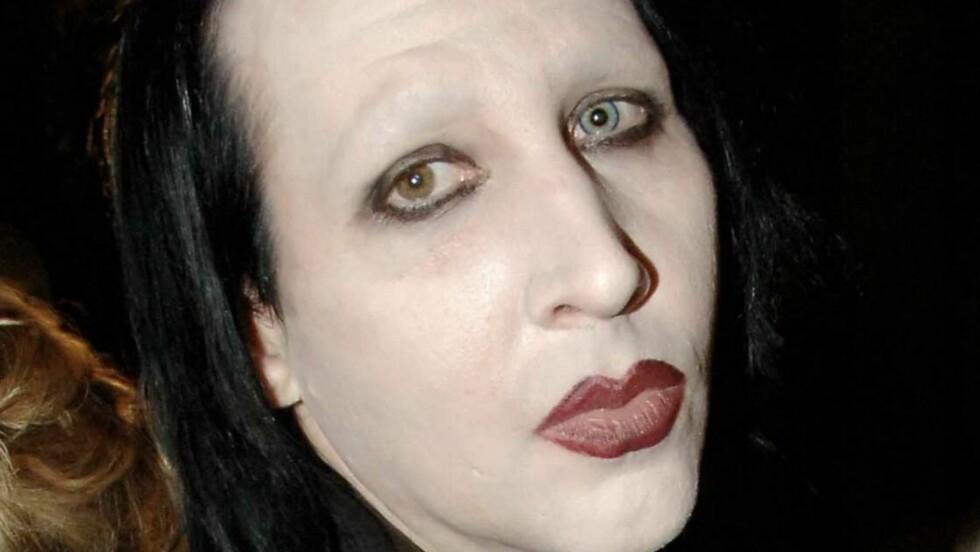 KLAR FOR FAMILIE: Marilyn Manson ønsker seg barn med sin nye kjæreste.  Foto: All Over Press