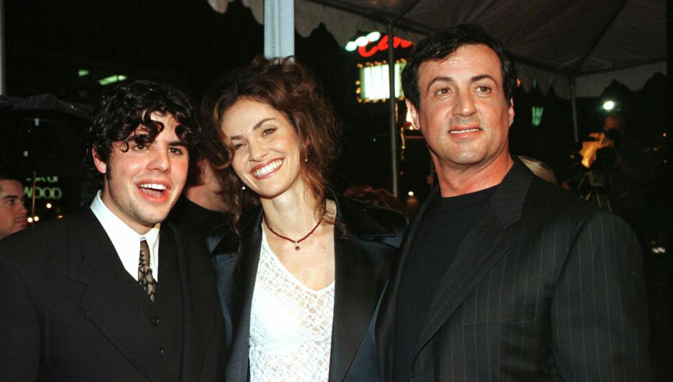 I FARENS SKYGGE: Sage Stallone skal ikke ha taklet å vokse opp i farens skygge, men ville gjøre alt for å gjøre Sylvester stolt.  Foto: Reuters