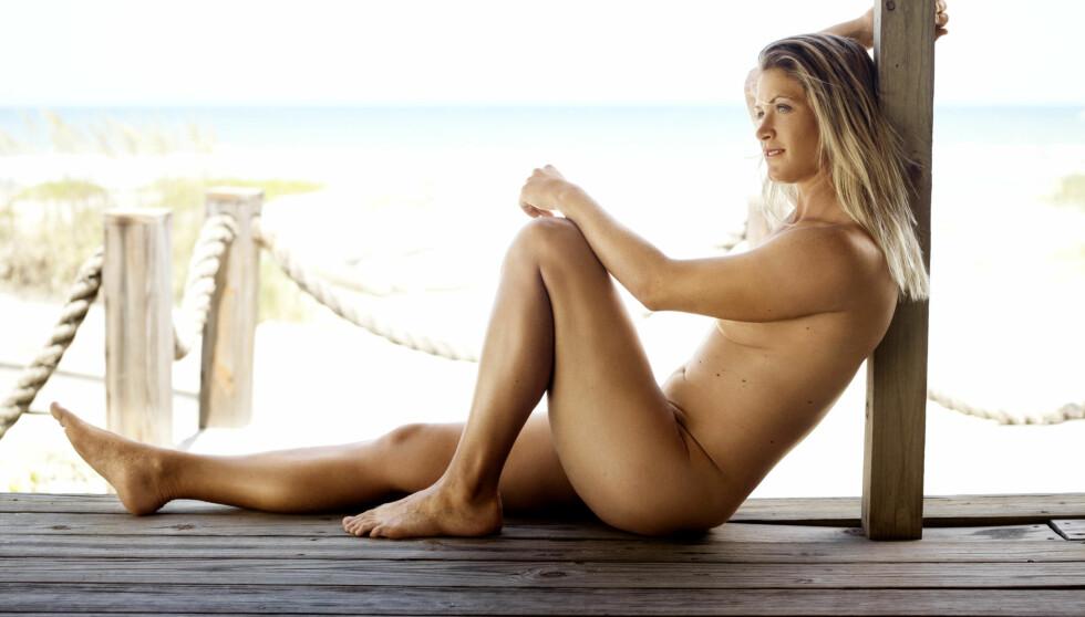 HELT NAKEN: Suzann Pettersen viste seg helt naken i ESPN, The Body Issue. Foto: Jeff Lipsky/ESPN Magazine