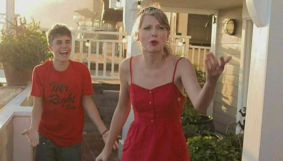 LURTE TAYLOR: Da Justin Bieber var gjesteprogramleder i lureprogrammet «Punk'd» i mars, valgte han å lure Taylor Swift. Foto: Fame Flynet