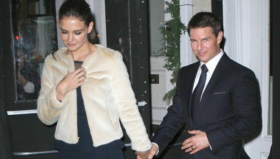 OPPRETTHOLDT FASADEN: Katie Holmes og Tom Cruise ville ikke at noen skulle vite om bruddet før de annonserte det selv.  Foto: All Over Press