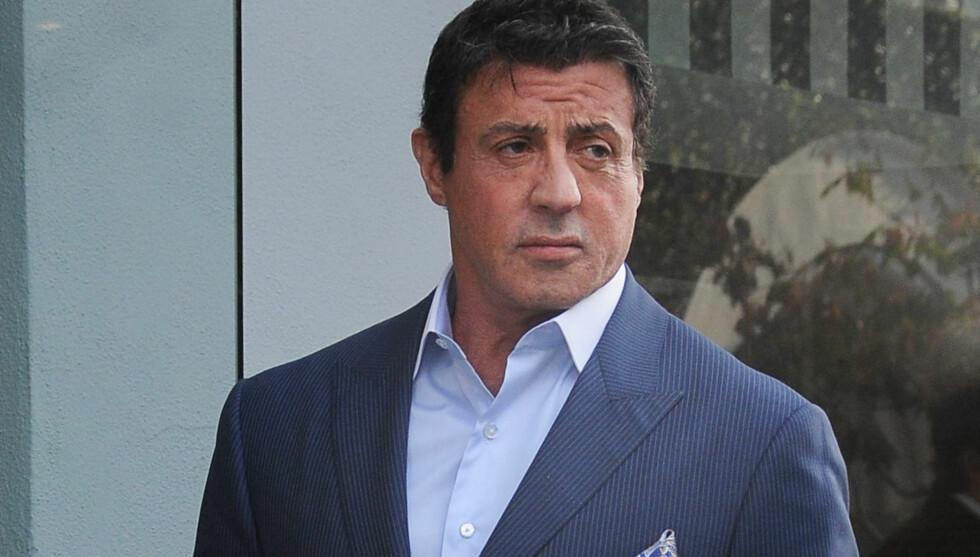 I SJOKK: Skuespiller Sylvester Stallone er fullstendig knust og lamslått av sorg etter sønnens brå bortgang. Sage Stallone ble funnet død i sitt hjem i Los Angeles fredag ettermiddag lokal tid. Dødsårsaken er ennå ikke fullstendig fastslått, men i Foto: FameFlynet Norway