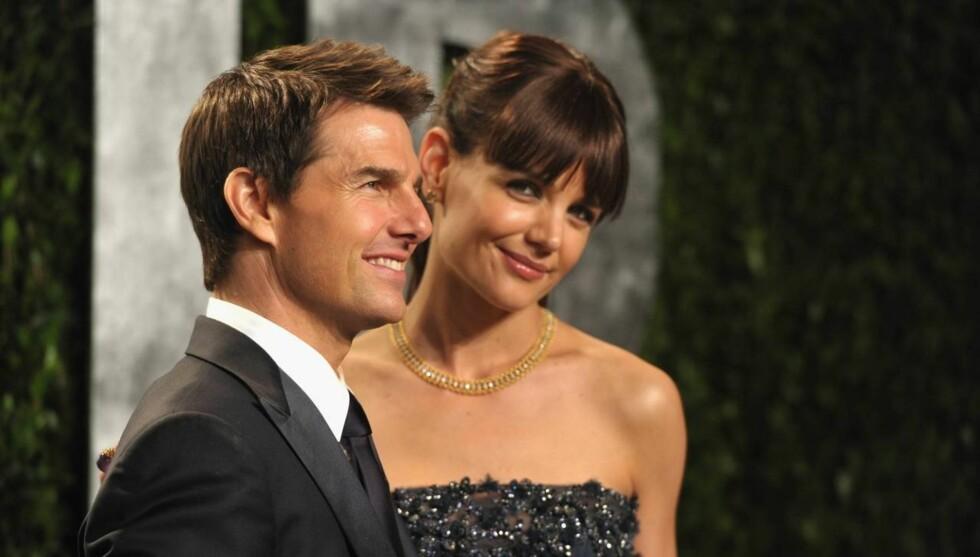 SJOKKBRUDD: Mange ble overrasket da Tom Cruise og Katie Holmes da de i slutten av juni annonserte at de skal skilles.  Foto: All Over Press