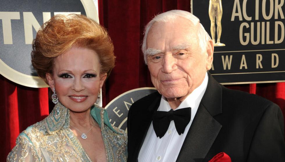LANGT EKTESKAP: Tova og Ernest Borgnine var gift i 39 år. Søndag døde skuespilleren 95 år gammel.  Foto: All Over Press