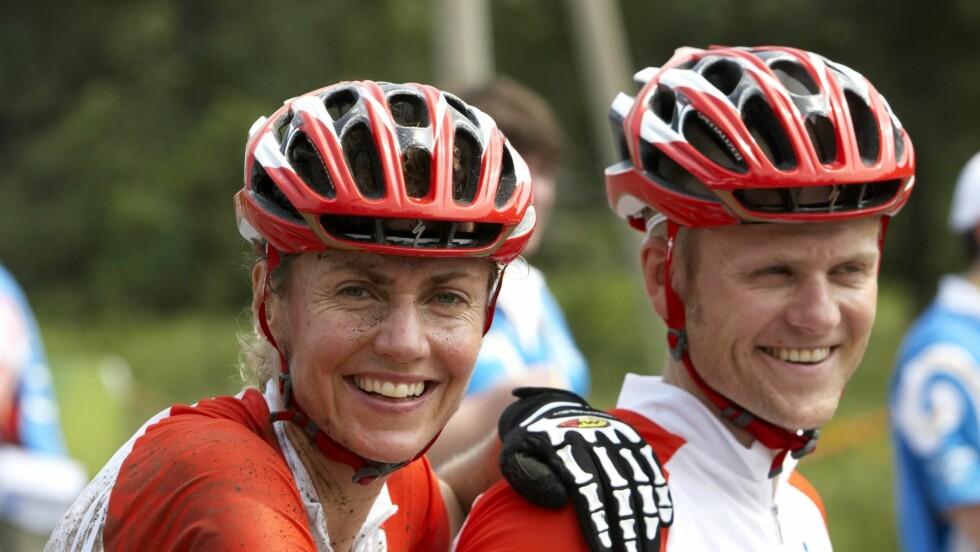 TRENER TIL OL: Om tre uker konkurrerer Gunn-Rita i OL i London med god hjelp fra trener-ektemannen Kenneth Flesjå.  Foto: SCANPIX