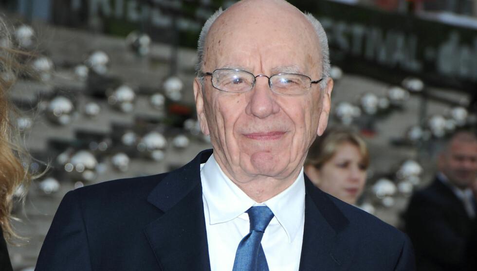 TV-MOGUL: Rupert Murdoch er en av verdens mektigste mediemenn. Han eier blant annet avisen The Sun og TV-nettverket Fox. Foto: Fame Flynet
