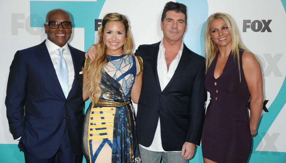 KJENTE KOLLEGER: Demi er den yngste «X Factor»-dommeren blant Britney Spears (30), Simon Cowell (52) og La Reid (56). Foto: All Over Press