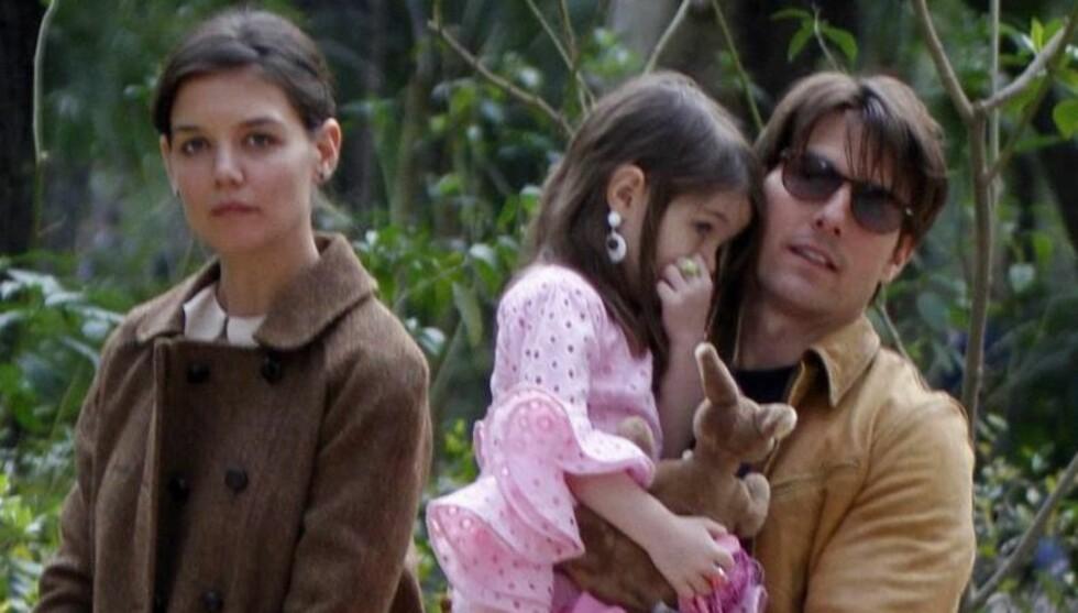 TRYGLET KATIE OM Å BLI: Tom Cruise skal ifølge People ha tryglet Katie om å komme til Island, hvor han jobber med sin nye film, da han fikk vite at hun ville ta med seg datteren Suri og forlate ham. Foto: All Over Press
