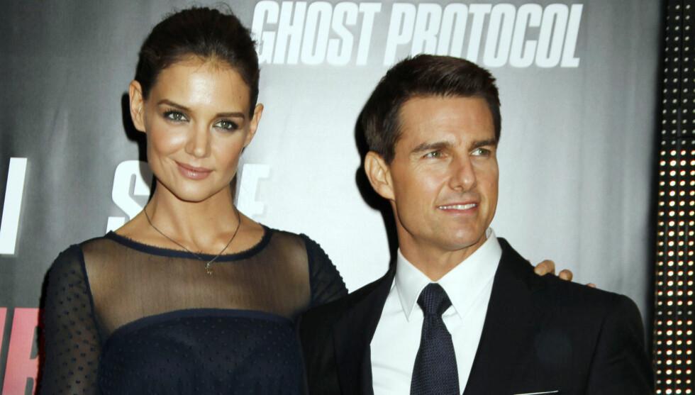 TUNG TID: Katie Holmes og Tom Cruise gikk nylig fra hverandre etter seks års ekteskap.  Foto: All Over Press