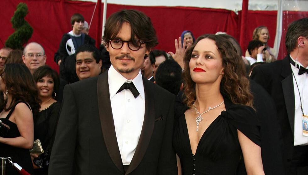 SLUTT: Johnny Depp og Vanessa Paradis var sammen i 14 år og fikk to barn sammen.  Foto: All Over Press