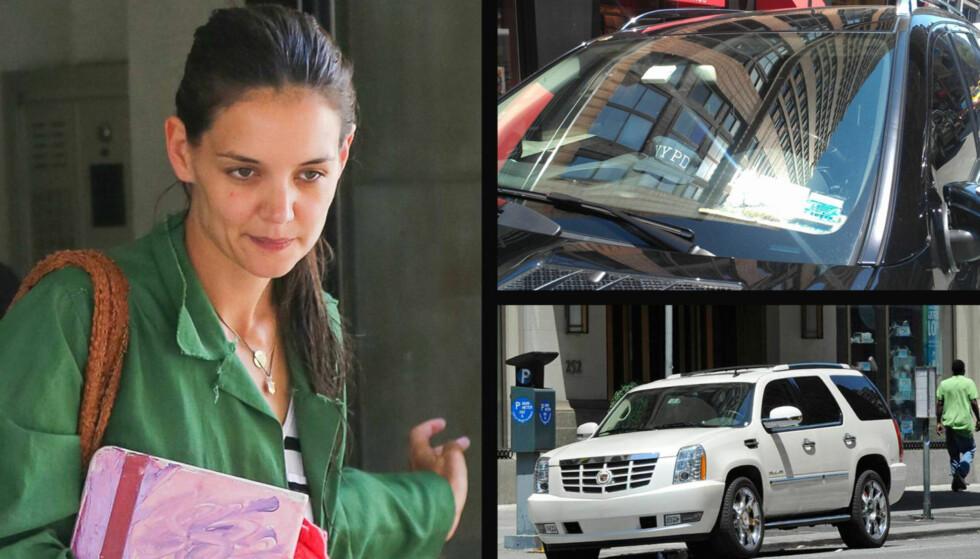 LEVER I FRYKT: Katie Holmes mistenker den amerikanske scientologikirken for å stå bak bilene som har forfulgt henne i flere uker.